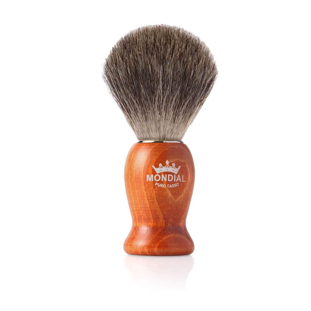 Четка за бръснене с естествен косъм от сив язовец