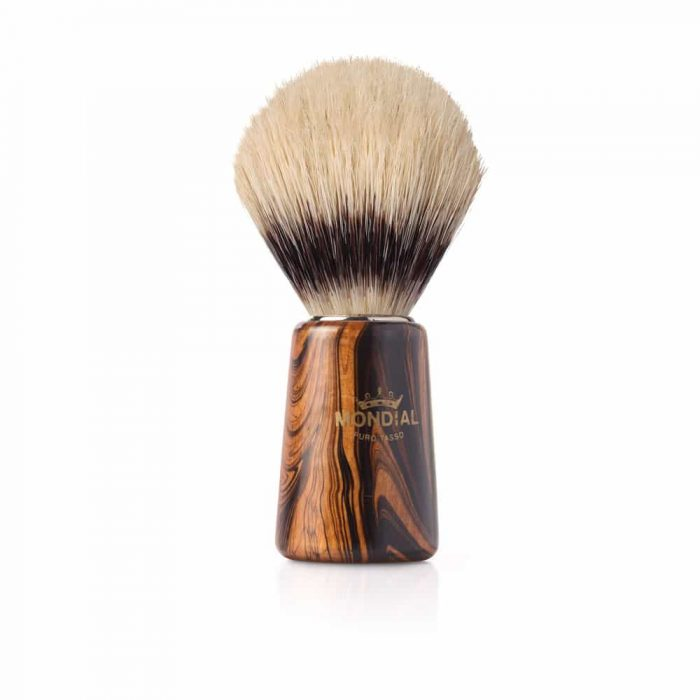 Четка за бръснене с естествен косъм с дървена дръжка