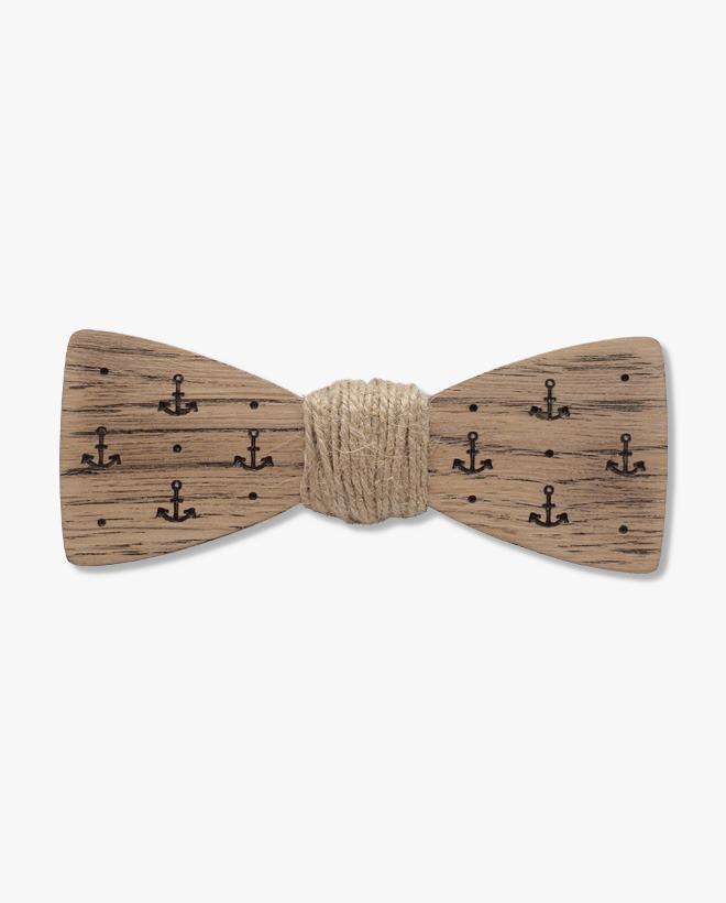 мъжка дървена папионка