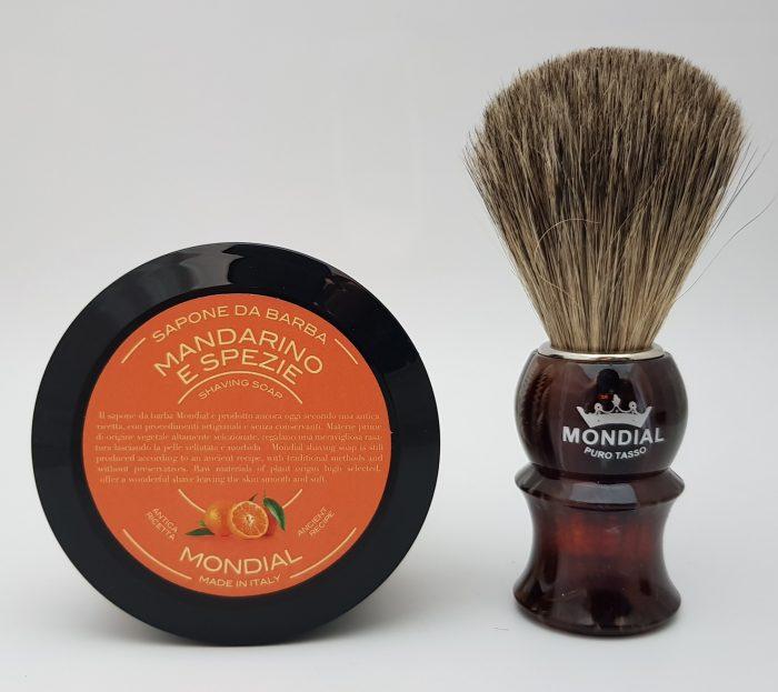 Четка за бръснене с естествен косъм от сив язовец (Grey Badger) + ПОДАРЪК Сапун за бръснене (60 гр.)