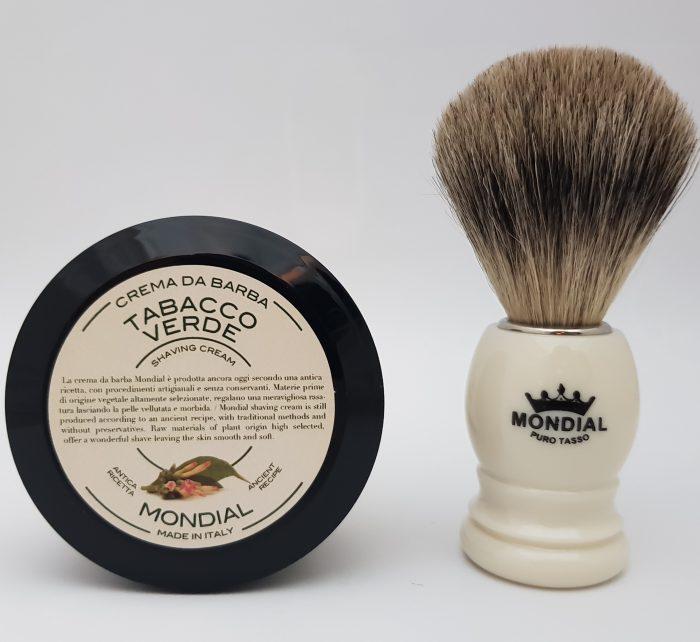 Четка за бръснене с естествен косъм от язовец (Fine Badger) + ПОДАРЪК Крем за бръснене (75 мл.)
